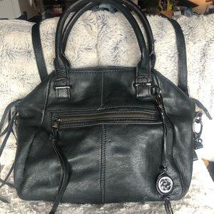 Signature leather Elliott Luca black purse